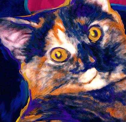 cat art digital painting