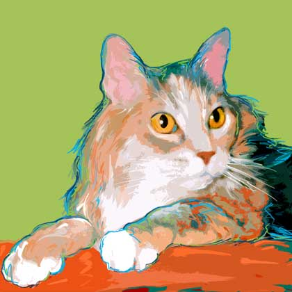 cat portrait art