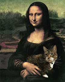 mona lisa and cat